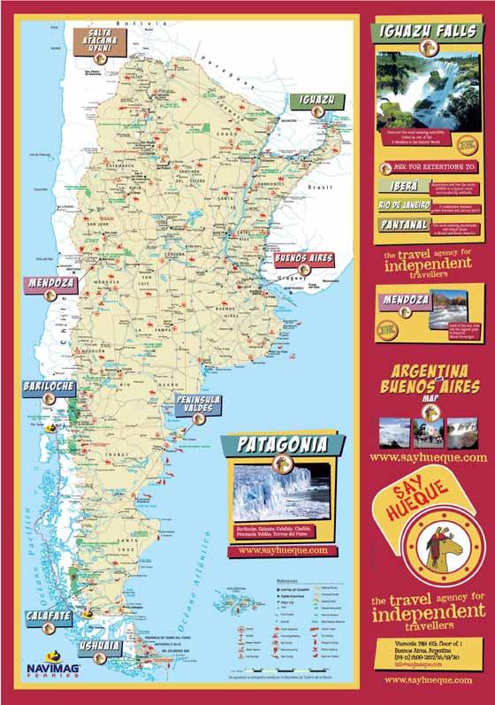 Detaillierte Karte von Argentinien