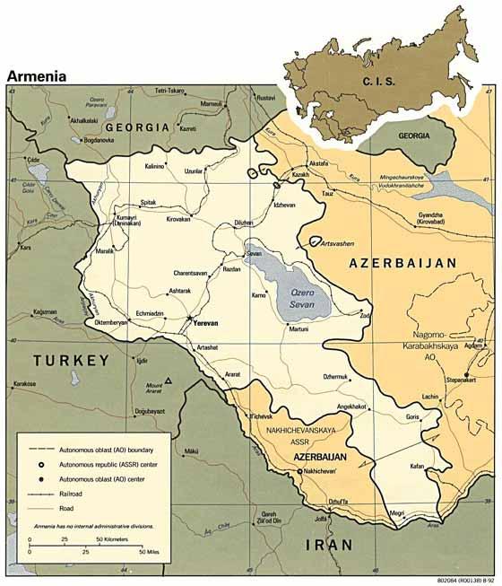 Große Karte von Armenien