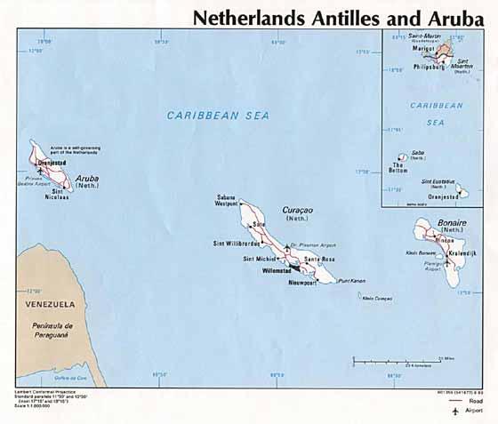 Große Karte von Aruba