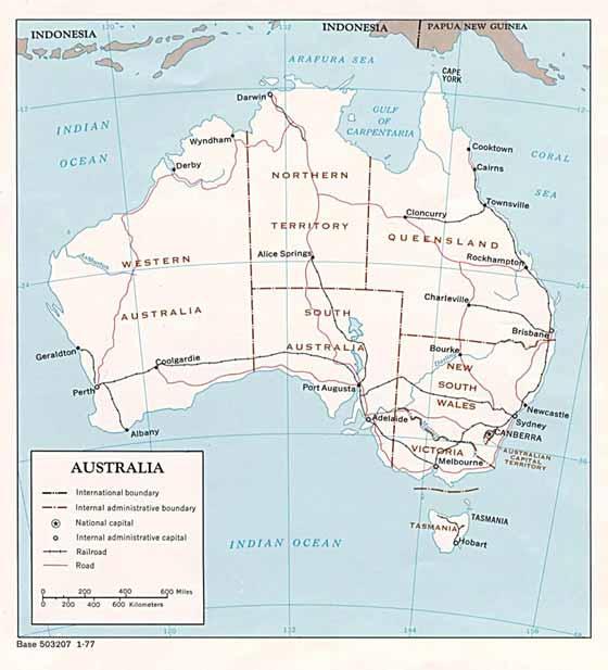 Große Karte von Australien