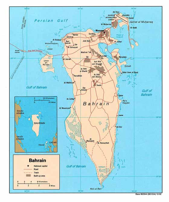 Детальная карта Бахрейна