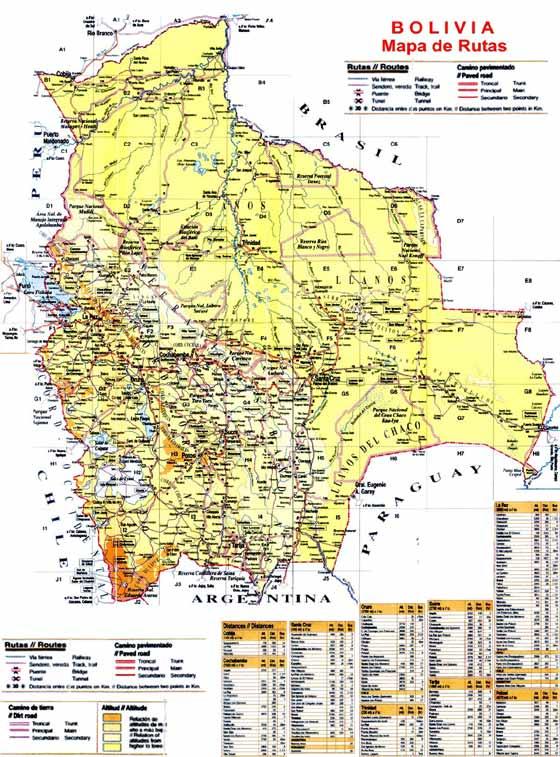 Große Karte von Bolivien