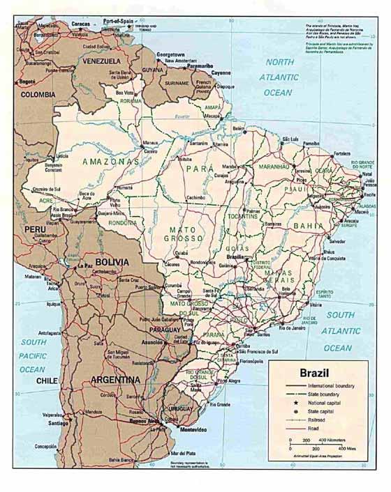 Große Karte von Brasilien