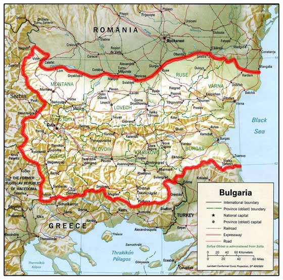Detailed map  Bulgaria
