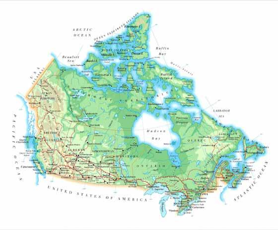 Große Karte von Kanada