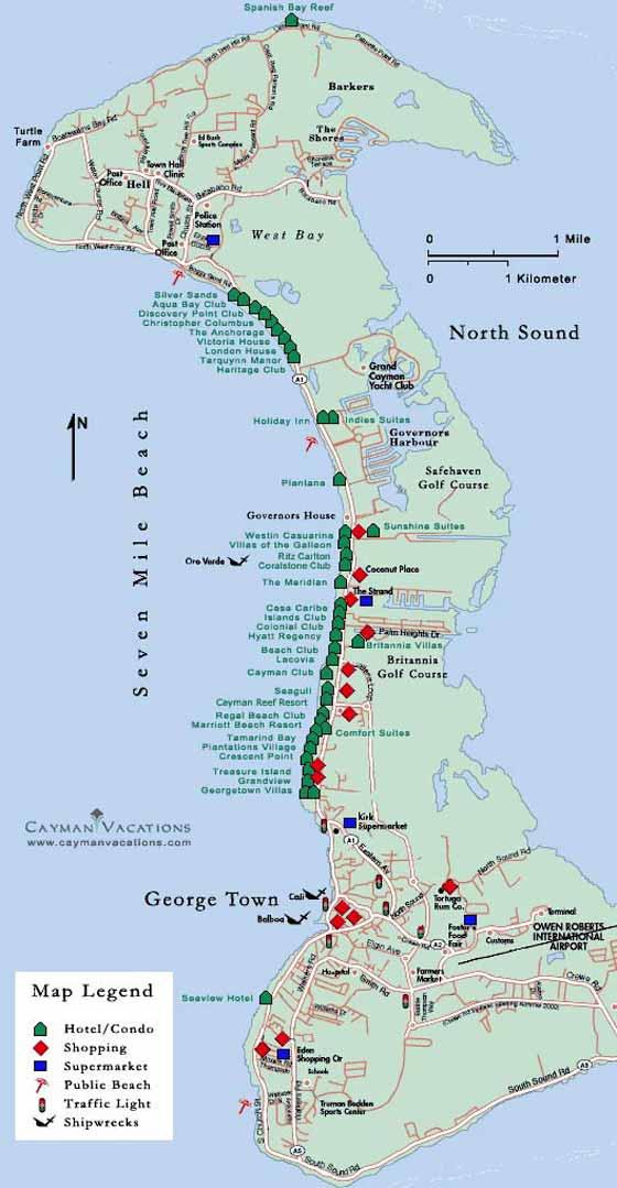Cayman Islands Maps Printable Of