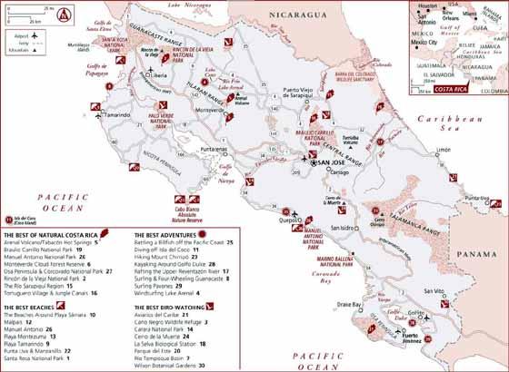 Große Karte von Costa Rica
