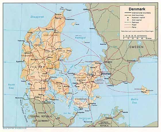 Große Karte von Danemark