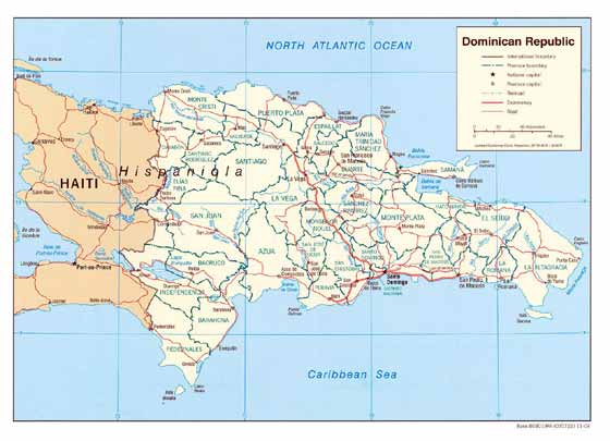 Large map of Dominican Republic
