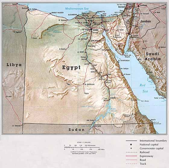 Large map of Egypt