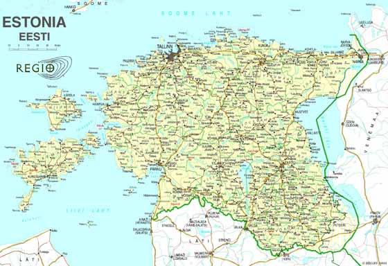Große Karte von Estland