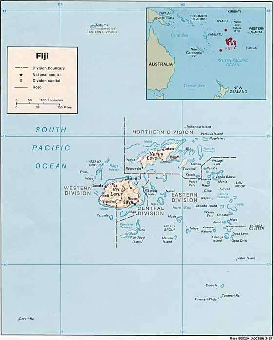 Große Karte von Fidschi