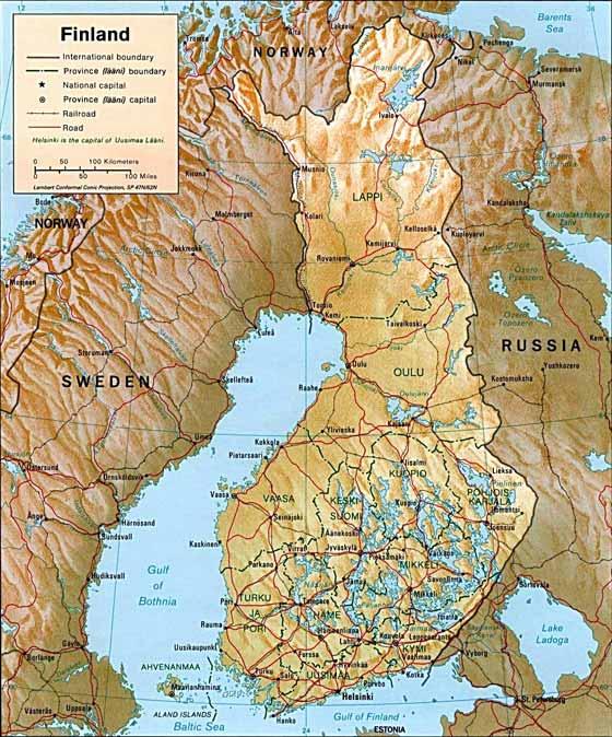 Große Karte von Finnland