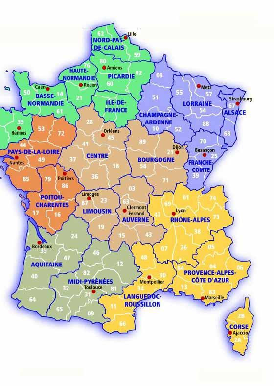Große Karte von Frankreich