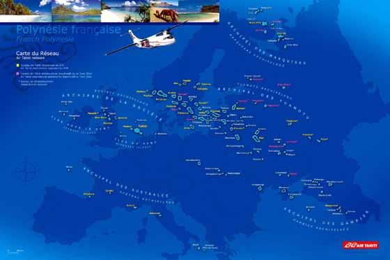 Große Karte von Franzosischer Polynesien