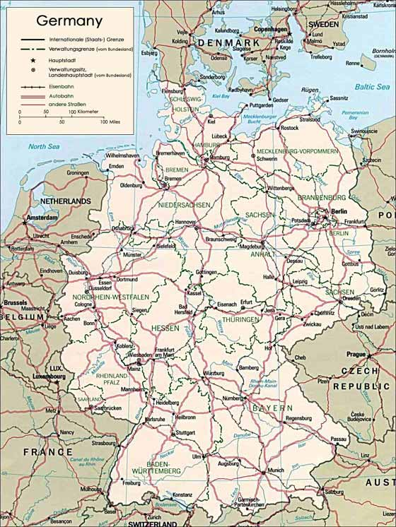Germany Maps Printable Maps of Germany for Download