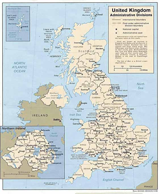 Detailed map of Great Britain