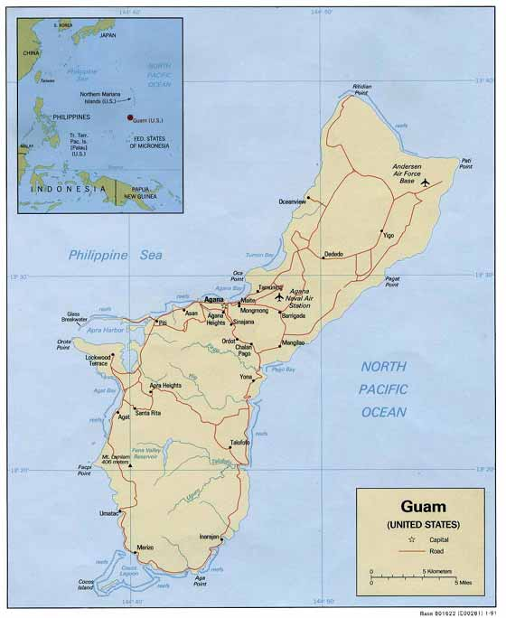 Große Karte von Guam