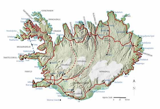Große Karte von Island