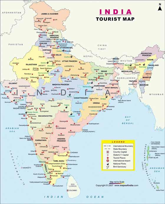 Große Karte von India