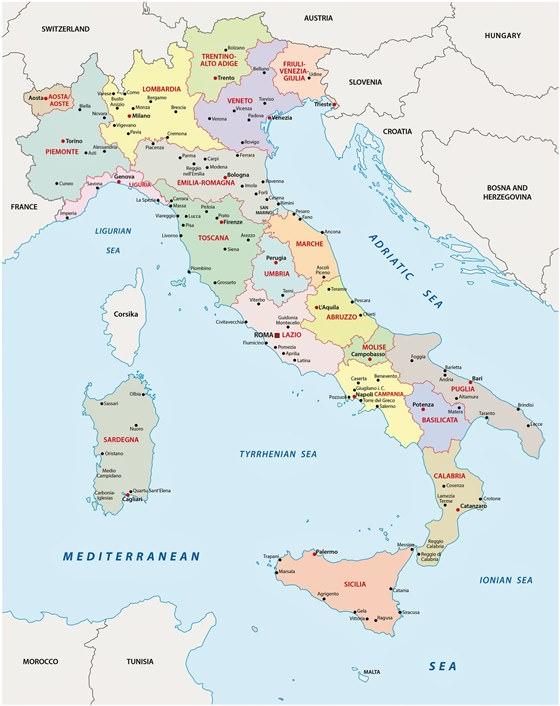 italien karte auf deutsch Karten von Italien | Karten von Italien zum Herunterladen und Drucken
