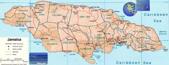 Große Karte von Jamaika