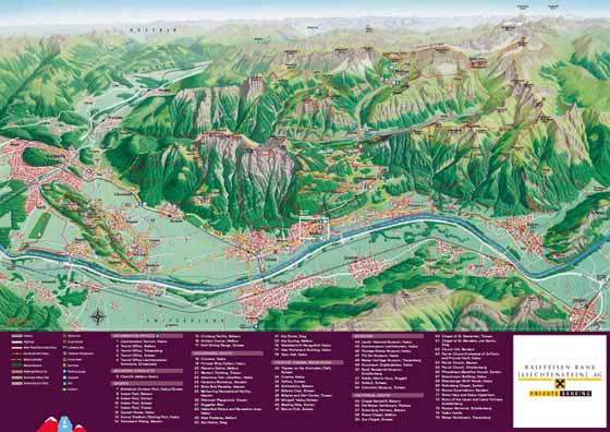 Large map of Liechtenstein