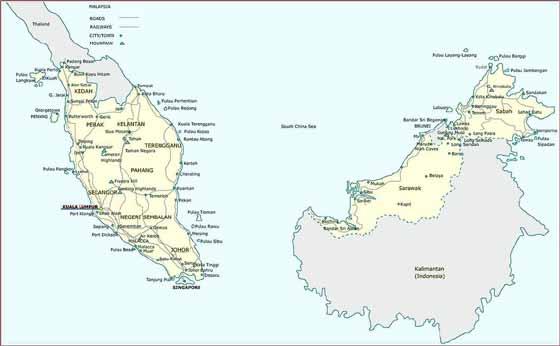 Große Karte von Malaysia
