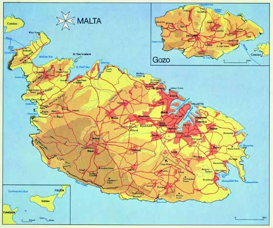 Große Karte von Malta