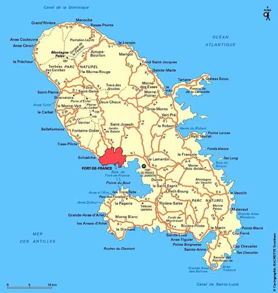 Große Karte von Martinique