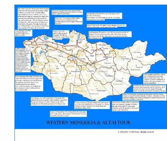 Große Karte von Mongolei