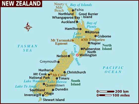 Printable Map New Zealand.New Zealand Maps Printable Maps Of New Zealand For Download