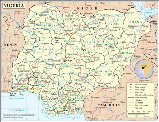 Large map of Nigeria