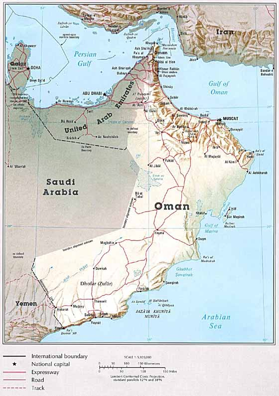 Large map of Oman