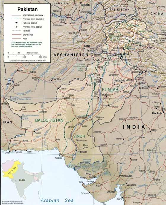 Große Karte von Pakistan