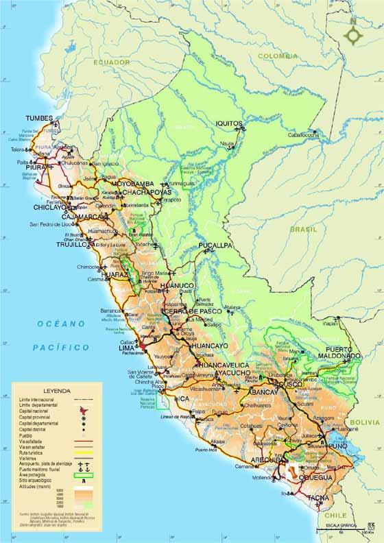 Große Karte von Peru