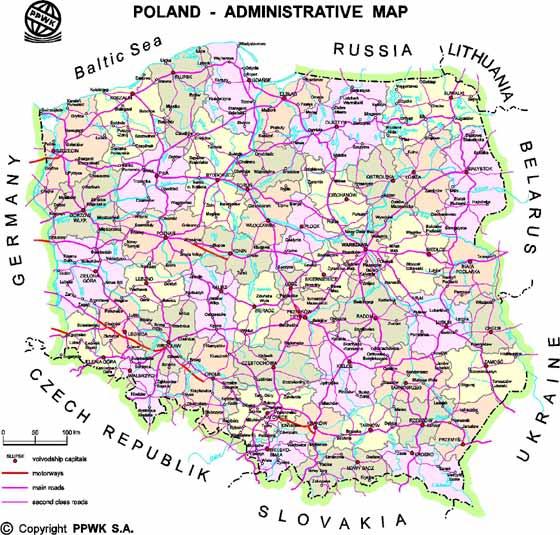 Große Karte von Polen