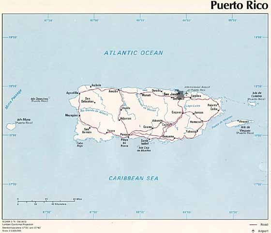 Detailed map  Puerto Rico
