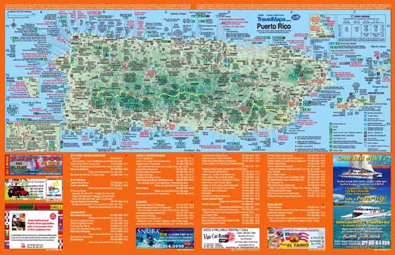 Detailed map of Puerto Rico