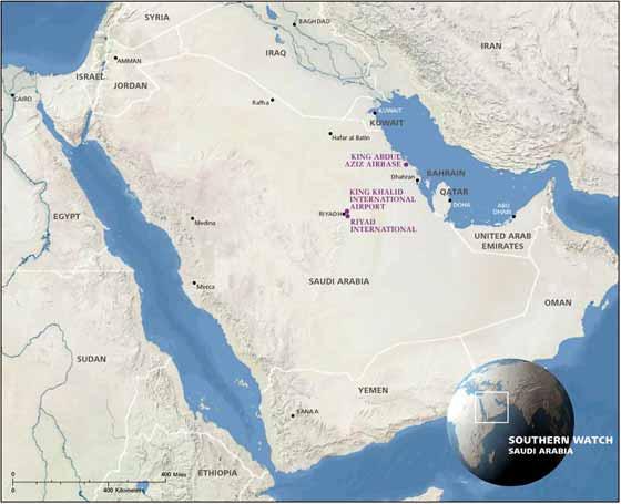 Große Karte von Saudi-Arabien