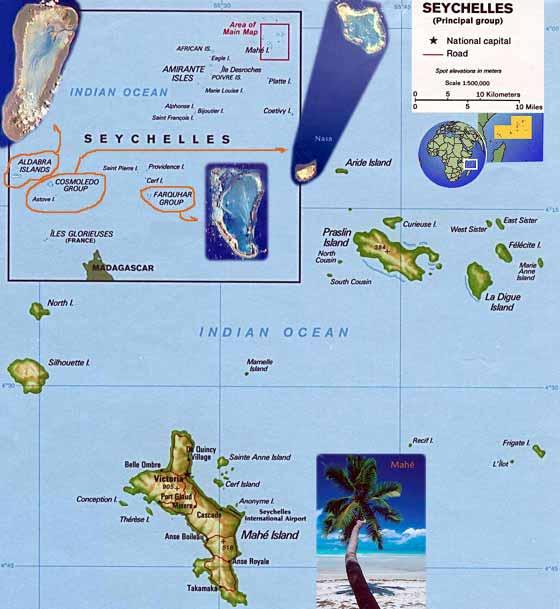 Große Karte von Seychellen