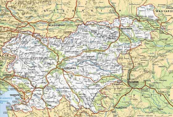 Große Karte von Slowenien