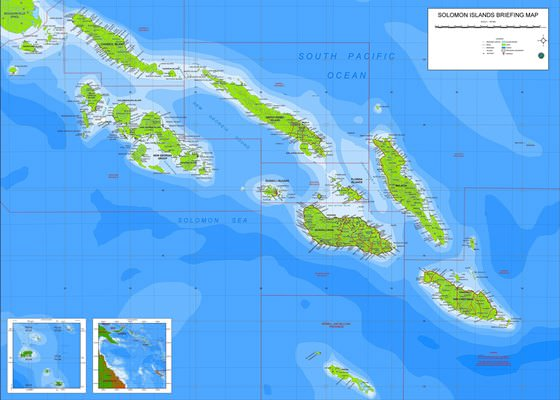 Large map of Solomon Islands