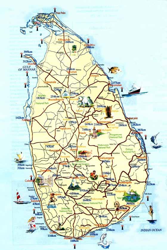 Große Karte von Sri Lanka