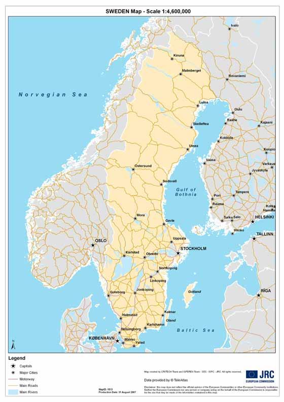 Große Karte von Schweden