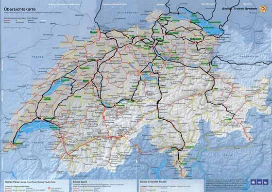 Large map of Switzerland