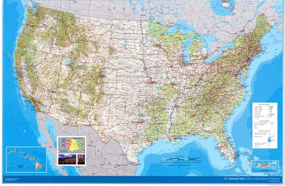 Large map of USA