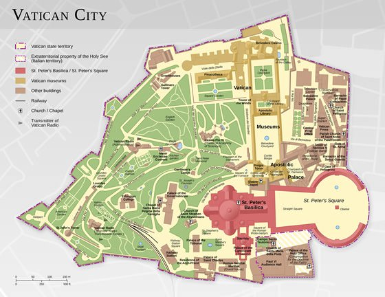 Large map of Vatican