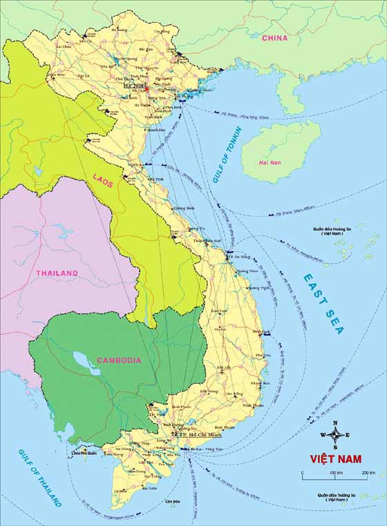 Detailed map  Vietnam