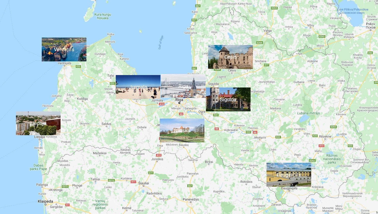 Cities Map Of Latvia Orangesmile Com